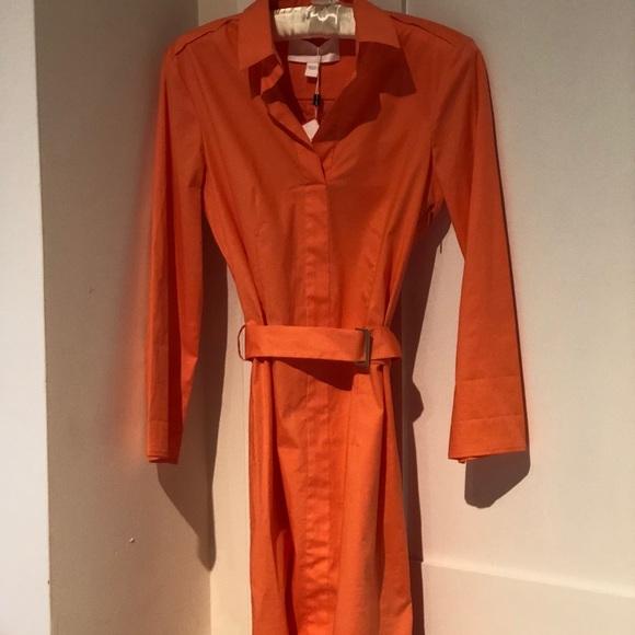 70ab41ecf Hugo Boss Dresses | Stretch Cotton Belted Shirtdress Nwt | Poshmark